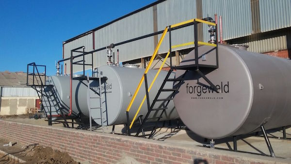 fuel depot installation  u2013 diesel aboveground storage tanks